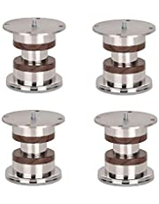 SHAKS TRADERS Stainless Steel Round Sofa Leg (Wooden Colour, 50 mm Diam) -Pack of 4