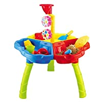 Inside Out Toys Sand and Water Play Table 3 in 1 with Loads of Great Accessories and Water Mill