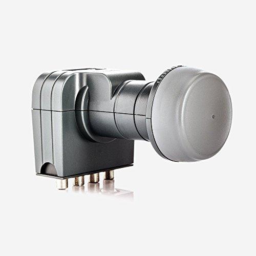 Fuba DEK 407 Quattro LNB - Quattro Universal LNB für Multischalterbetrieb mit optimaler Mobilfunkabschirmung, mit Wetterschutzgehäuse (digital, HDTV-tauglich, 4K/UHD-tauglich, 3D-tauglich)