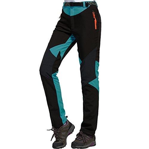 Sidiou group pantaloni da trekking pantaloni softshell donna pantaloni da arrampicata pantaloni da escursionismo fleece pantaloni impermeabile pantaloni da campeggio (s 28