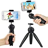 #7: CEUTA (™) , Mini 7 inch Mobile Tripod | With 360 degree | Rotating Ball Head | With Mobile Clip | Suitable with Smartphones | Iphone | Samsung | Lenovo | Micromax | Oppo | Vivo | Moto | One Plus | Xiaomi With Mobile Clip Holder - Black.