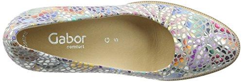Gabor Shoes Comfort 62.11, Scarpe con Tacco da Donna Multicolore (Stone 24)