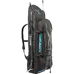 Cressi Piovra Fins Backpack Sac pour Le Transport et la Protection des Palmes et Accessoires d'apnée et de pêche sous-Marine Adulte Unisexe, Noir, Une Une Taille