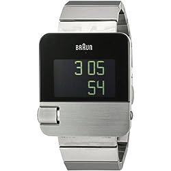 Braun Herren-Armbanduhr Digital Quarz Edelstahl - BN0106SLBTG