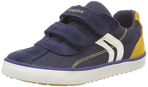 Geox Baby Jungen B Kilwi Boy G Sneaker, Blau (Navy/Dk Yellow C4229), 25 EU (Italienische Baby-schuhe)