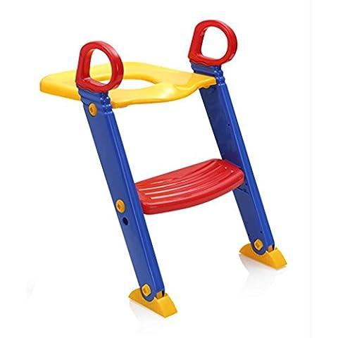 Potty Training Leiter Step up Seat Für Jungen und Mädchen Mit Anti-Skid Füße Einstellbare Stufen Bequemer Potty Seat und Geländer , red