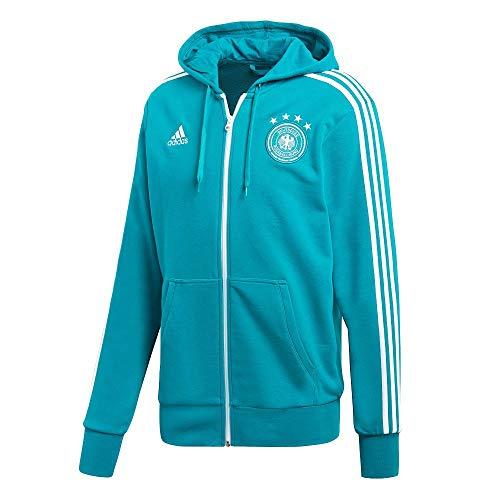 adidas Herren DFB 3 Stripes Full Zip Hoody Kapuzenjacke EQT Green s16/White M