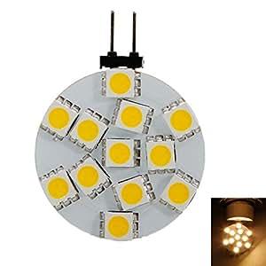 Preisgünstig Other Lights G4 1.8W SMD5050 12LED Warm White Light Corn Lamp Bulb (12V)