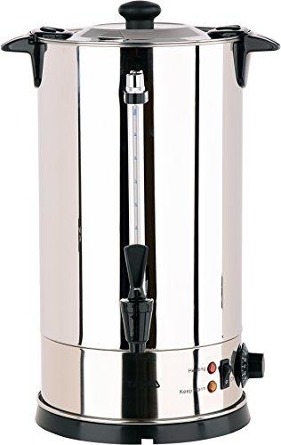 YATO Profi Glühweinkessel 10 Liter 1650 Watt Edelstahl Glühweinkocher Glühweinautomat Heißgetränkeautomat Heiwasserkessel Wasserkocher Glühweintopf