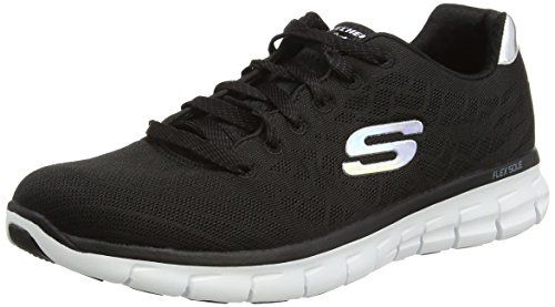 Skechers - Synergy-Moonlight Madness, Sneakers da donna, nero (bkw), 36
