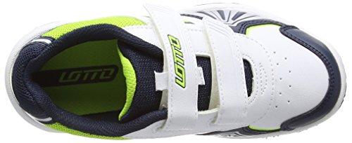 Lotto Sport STRATOSPHERE III CL S Unisex-Kinder Tennisschuhe Weiß (WHT/CLOV FL)