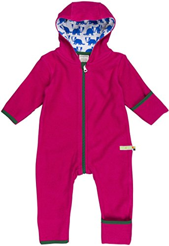 loud + proud Unisex Baby Schneeanzug Overall Fleece, Violett (Berry Ber), 68 (Herstellergröße: 62/68) (Baby-mädchen-fleece)