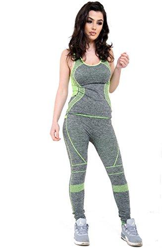 Get The Trend - Survêtement - Femme YELLOW - DMSET-3