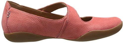 Clarks Felicia Plum, Chaussures de ville femme Rose (Coral Nubuck)