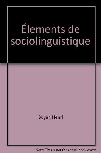 Élements de sociolinguistique