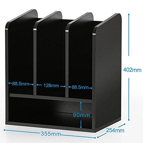 Fitueyes Schreibtisch Ablagesystem Tisch-Organizer aus Holz 35x25x40cm schwarz DO203501WB - 4