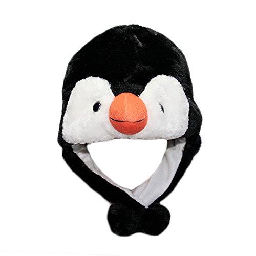 Kinder Tiermütze Wintermütze Plüschmütze Neuheit Winter Mützen Hüte Panamahüte Halloween Cosplay Verkleiden Weihnachten Geschenk Penguin (Penguin Party Supplies)