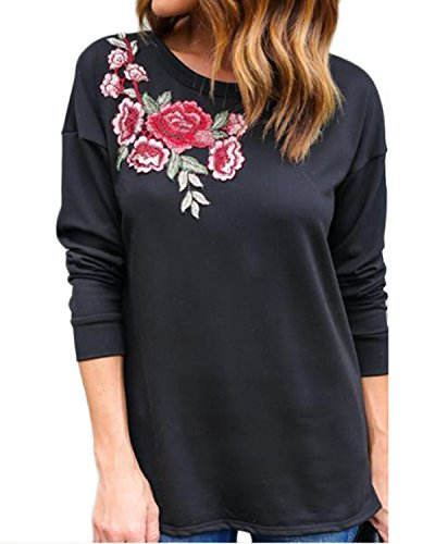 auxo-womens-casual-loose-long-sleeve-embroidered-printed-jumper-pullover-tops-blouse-sweatshirt-blac