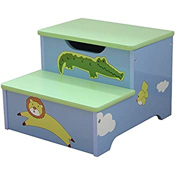 Liberty House Toys Safari Storage Step-Up Wood Blue  sc 1 st  Amazon UK & Pink Disney Princess Kids Wooden Step Stool u0026 Playroom Bedroom ... islam-shia.org