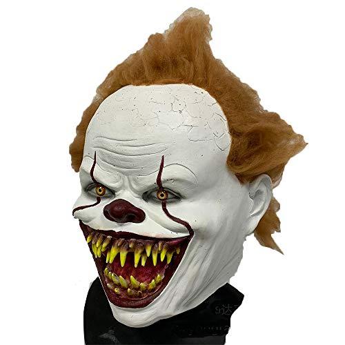 Latex Maske Halloween Clown, Penny Wise Maske, Haunted House Kostüme Spiel Maskerade Party Arrangement Requisiten, IT (Penny Kostüm)