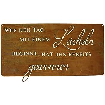 Ziegler Metallschild Herz Edelrost Freundschaft Metall Tafel Schild Spruch 0748-6 F77