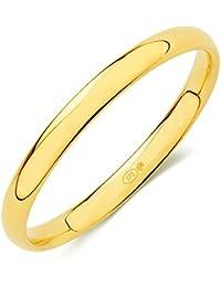 Alianza de boda oro (9K) ancho 2,5mm con interior confort