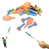 Dazzling Toys Mini Foam Rocket Launcher Kids Educational Toy Pack of 12 Sets In Various Colors