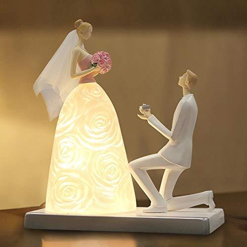 XFZ / Kreativ, Modisch, Romantisch, Braut- und Bräutigam-LED-Schreibtischlampe, LED-Nachtlicht mit...