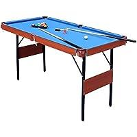HLC Mesa de Billar Snooker (139.5*74.7*80 cm ) Tapizado Azul,Ideal para la Familia !
