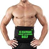 KS HEALTHCARE Nylon Polyester Waist Trimmer Fat Burner Slimming Sweat Belt (Black)