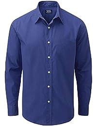 74029dc95e04f Charles Wilson Camisa Manga Larga Popelina Lisa para Hombre