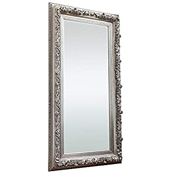 "Barcelona Trading Antwerp Extra Large Silver shabby chic Full Length Leaner Wall Hung Floor Mirror 70"" x 37"""