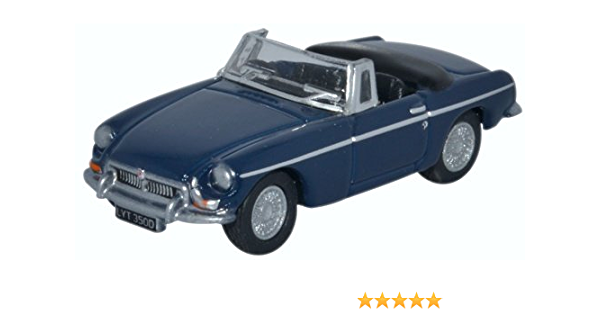 OXFORD DIECAST 76MGB008 1:76 OO SCALE  MG MGB Roadster Mineral Blue