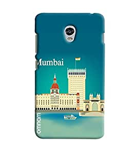 Omnam Artistick Effect Of Mumbai City Printed Designer Back Cover Case For Lenovo Vibe P1