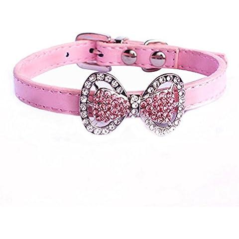 Yunt strass Papillon Pet Cat Dog-Collana a colletto, femmina Puppies-Costume da cagnolino cucciolo di Chihuahua