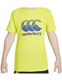 Canterbury Boys 'Vapodri grande Logo camiseta de entrenamiento, Niños, color Sulphur Spring, tamaño 8 años