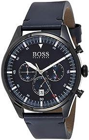 Hugo Boss Mens Quartz Watch, Chronograph Display and Leather Strap 1513711