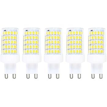 Regulable 10W G9 LED Bombilla de Luz Fría 6000K Luz de Maíz Con 800ml Lumenes 360 Grados,Reemplazo de 80W Lámpara Halógena