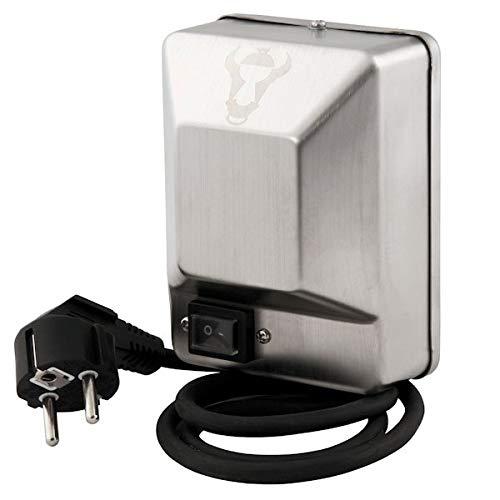 BBQ-Toro Edelstahlmotor für Grillspieß, Drehspieß, Rotisserie und mehr, 2 U/m (Umdrehungen pro Minute) - 50 Hz - 4 Watt