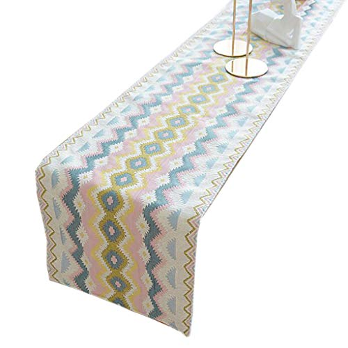Unbekannt Gestreifte Tischfahne Chenille Boxer Mode Einfache Nordic Kaffee Bett Hochzeit Hotel Bankett 2 Farben 33 cm * 140 cm Liuyu. (Color : Colorful Stripes, Size : 180cm) - Gestreifte Boxer