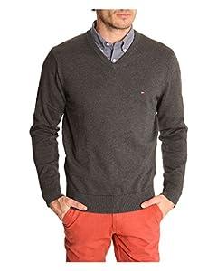 Tommy Hilfiger Herren Pullover PACIFIC V-NECK, Farbe:Anthrazit;Größe:XL