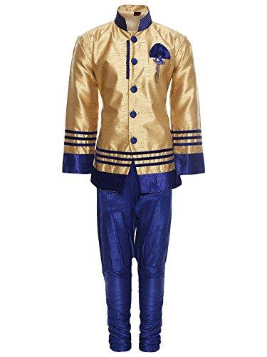 AJ Dezines Kids Sherwani Set for Boys (629_BLUE_2)