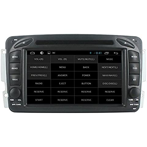 LIKECAR Quad Core Android 4.4 capacitivo SAT navigatore GPS Navigation System Autoradio per Mercedes Benz Vaneo Vito Viano W210 W203 W168 A170 W209 W208 W163 W463 Touch Screen Multimedia DVD A9 1.6 GHZ audio video stereo MP3 MP4 aux usb sd blueooth OBD TPMS Dual Zone RDS DVR Specchio link volante Hotspot 3 G WIFI