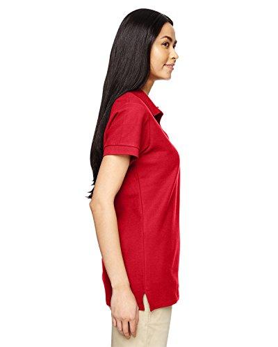 Da donna, in piqué di cotone, Maglietta sportiva Rosso