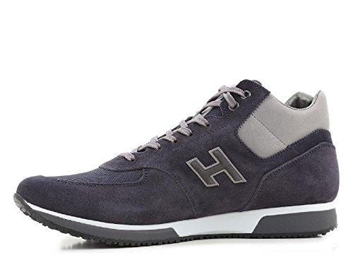 Baskets Hogan homme en peau retournée bleu foncé - Code modèle: HXM1980O4309LC2A09 Jeans