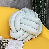 BAONZEN INS Cuscino Nordic Knot Palla Annodato Cuscino Cuscino Cuscino Cuscino di Colore Solido, Tipo sferico - Blu tenero