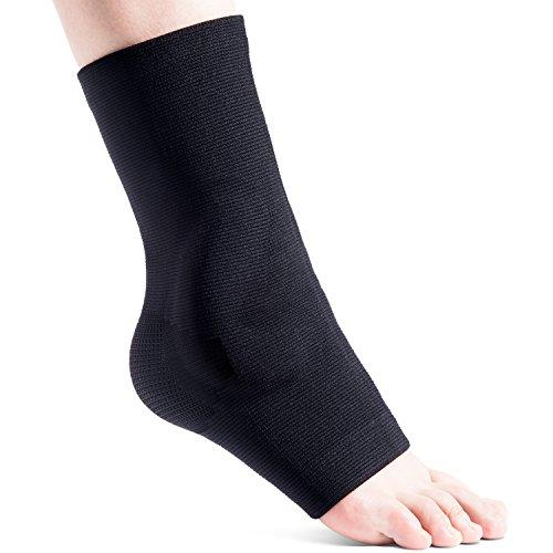 [Fussbandage] FREETOO Knöchelbandage Sprunggelenkbandage mit Massage Silikonpolsters zur Stabilisierung des Knöchelgelenkes und bei chronischen Instabilitäten. Kompression Fussgelenkbandage kinderleicht anlegen besser im SPORTSCHUH und FREIZEITSCHUH tragen