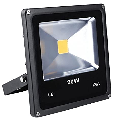 LE 20W Outdoor LED Flood Lights, 200W Halogen Bulb Equivalent, Waterproof IP66,1500lm,Daylight White, Security Lights, Floodlight,Wall Washer Light