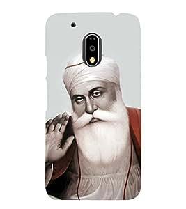 Baba Nanak 3D Hard Polycarbonate Designer Back Case Cover for Motorola Moto G4