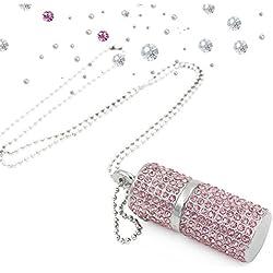 Shooo Clé USB 16 Go Pendrive Bling Strass Diamant Cristal Paillettes Affaire Brillant Collier de Bijoux